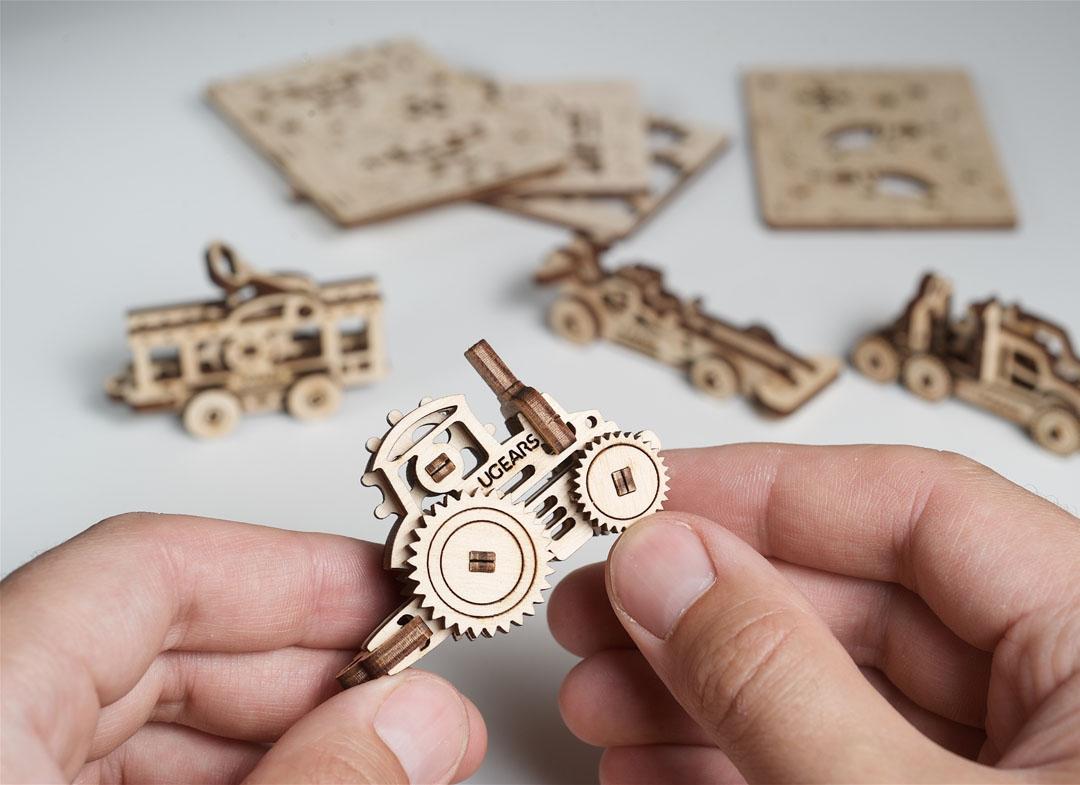 Puzzle 3D Fidget Vehicule din Lemn Ugears thumbnail