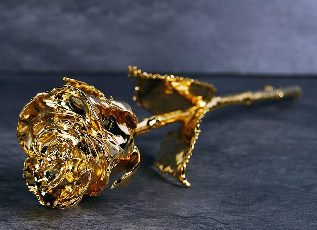 Trandafir placat cu aur de 24K thumbnail