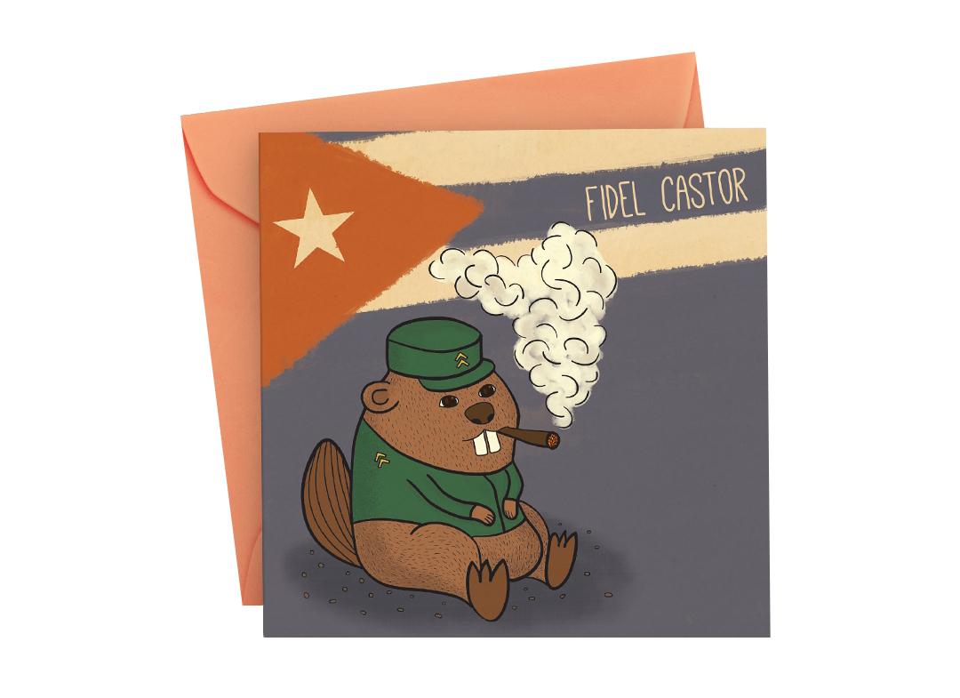 Felicitare Fidel Castor thumbnail