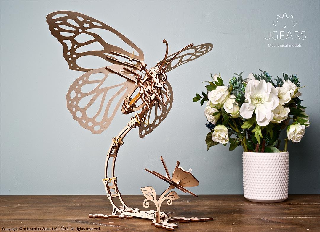 Puzzle 3D Fluture mecanic Ugears thumbnail