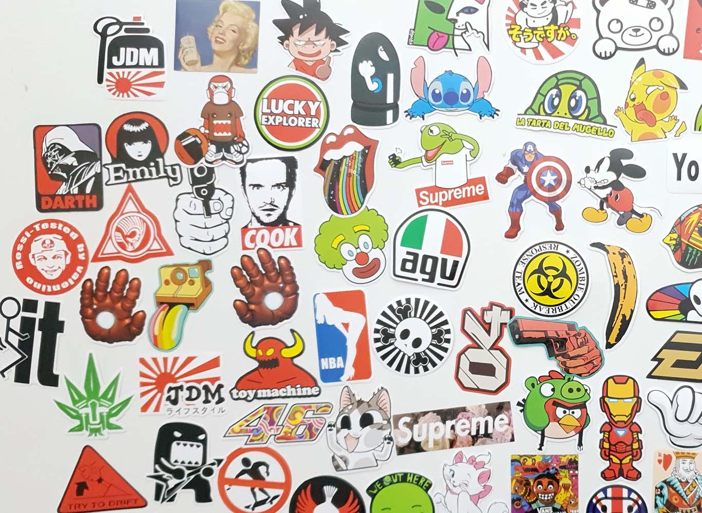 Set 100 stickere laptop Real Men thumbnail