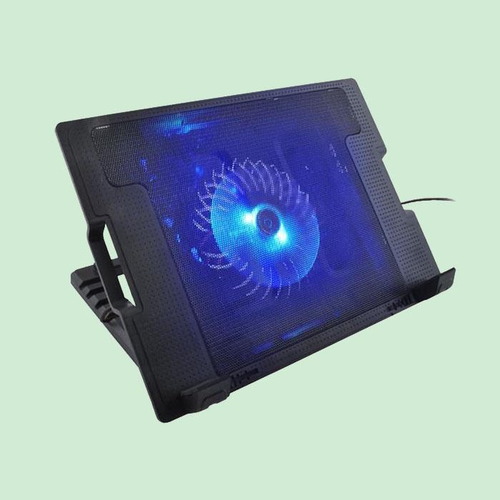 Suport laptop reglabil cu ventilator de racire LED