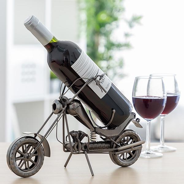 Suport sticla de vin Motocicleta metalica CHOPPER