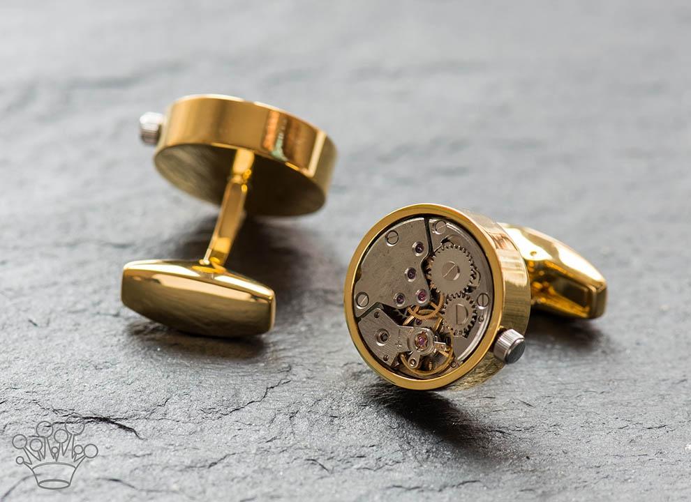 Butoni mecanism mobil ceas cadran auriu