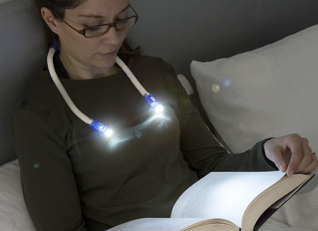 Lampa subtire de gat pentru citit