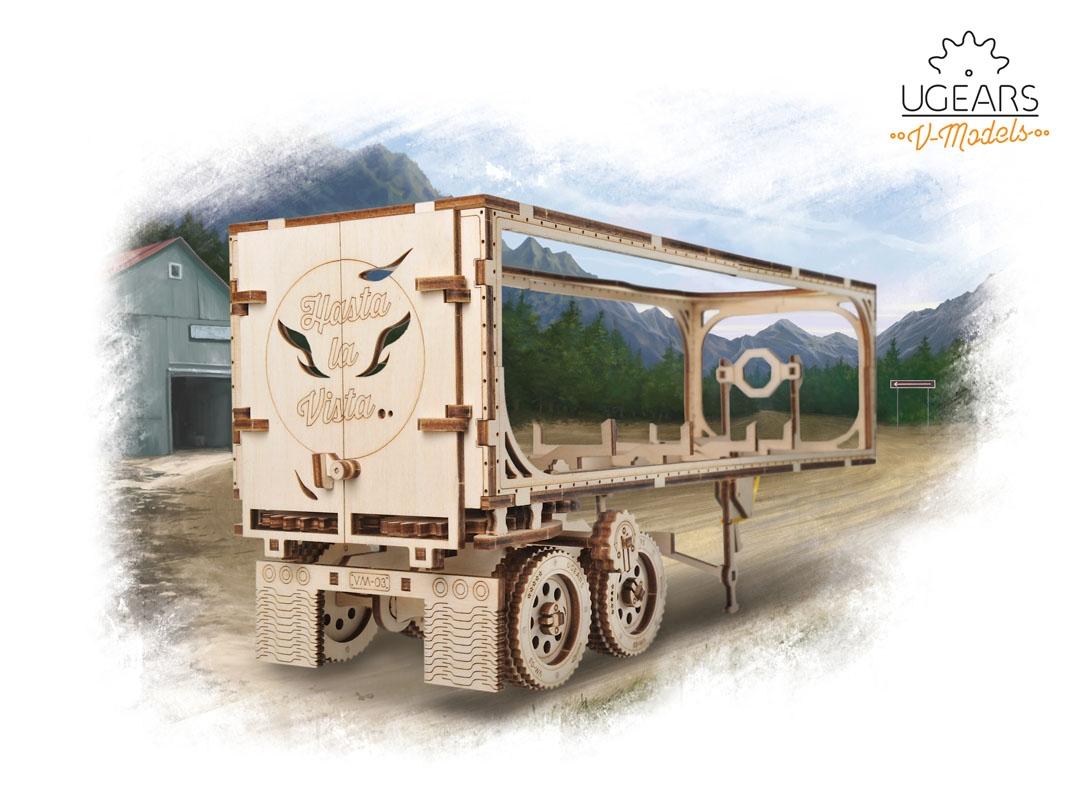 Puzzle 3D Remorca pentru camion VM 03 din lemn Ugears